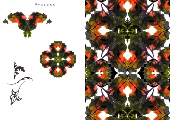 Process of red squares