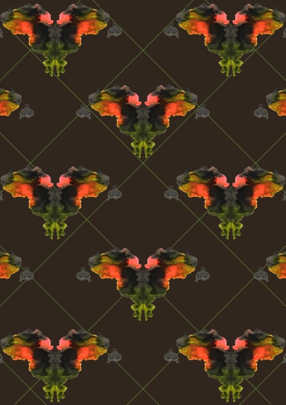 Butterflies and net for digital stitch